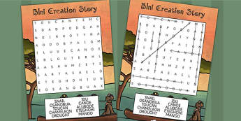 Kingdom of Benin: Bini Creation Story Differentiated Wordsearch