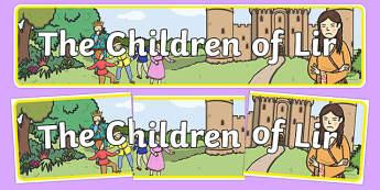 The Children of Lir Display Banner - Irish history, Irish story, Irish myth, Irish legends, The Children Of Lir, display banner