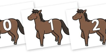 Numbers 0-100 on Chinese New Year Horse - 0-100, foundation stage numeracy, Number recognition, Number flashcards, counting, number frieze, Display numbers, number posters