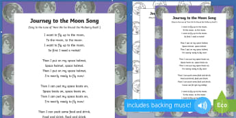 Journey to the Moon Song - EYFS, Early Years, Whatever Next, Jill Murphy, space, rocket, moon, stars, Baby Bear.