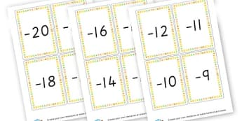 Negative Numbers - Negative Numbers Primary Resources, numbers, maths, math, numeracy