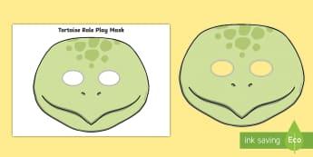 Tortoise Role-Play Mask - pets, pet, animal, animals, turtle,