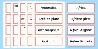 Earthquake Explorers Word Wall Display Cards - australia, Australian Curriculum, Earthquake Explorers, science, Year 6, word wall, display
