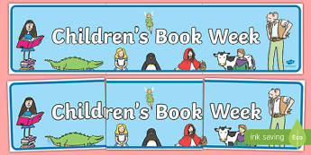 Childrens Book Week Display Banner - book week, reading, books
