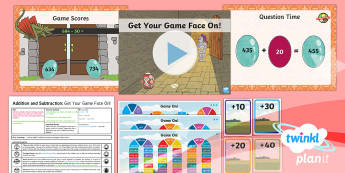 PlanIt Y3 Addition and Subtraction Lesson Pack Add and Subtract Numbers Mentally (4) - Addition and Subtraction, Add, more, plus, and, Add and subtract numbers mentally, altogether, total