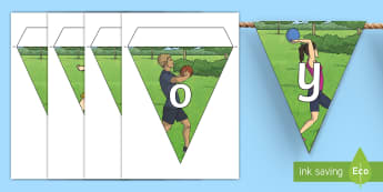Enjoy Sports Day! Display Bunting - Sport's Day, sports day, summer activities, physical education, cfe events, scotland, second,,Scott