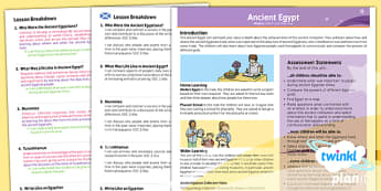 PlanIt - History UKS2 - Ancient Egypt Planning Overview CfE - planit, history, overview, cfe