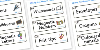 Panda Themed Editable Writing Area Resource Labels - Themed writing resource labels, literacy area labels, writing area resources, Label template, Resource Label, Name Labels, Editable Labels, Drawer Labels, KS1 Labels, Foundation Labels, Foundation