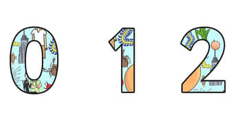 A4 Display Numbers to Support Teaching on James and the Giant Peach - james and the giant peach, display numbers, james and the giant peach display numbers, a4 numbers, display