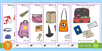 'Where Are They Going?' Drawing Conclusions and Comprehension Activity US English/Spanish (Latin) - Where Are They Going Drawing Inferences Activity - draw, art, SEN, inferential question, inferential