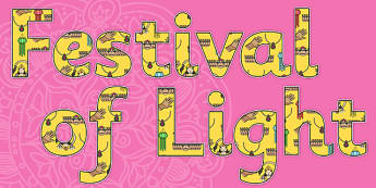 Festival of Light Display Lettering-festivial of light, display lettering, religion, religion themed lettering, festival of light themed