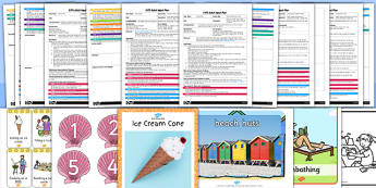 EYFS Seaside Themed Adult Input Planning and Resource Pack - planning, seaside, adult led