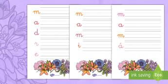 Acróstico: Día de la Madre - Día de la Madre, día de las madres, madre, mamá, mami, acróstico, escritura, esbribir, poema, po