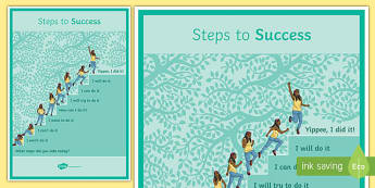 Steps to Success Poster - steps to success, poster, display poster, display, success