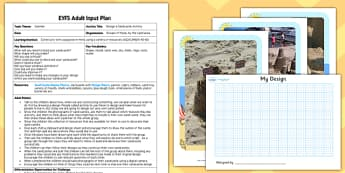 Design a Sandcastle EYFS Adult Input Plan - early years