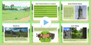 Saint Patrick and County Down PowerPoint - NI, Saint Patrick, Patrick, County Down, Northern Ireland, Down Cathedral, Saul, Christianity, Strue