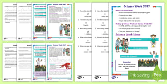 KS1 Science Week Differentiated Reading Comprehension Activity - KS1, Year 1, Year 2, Science, Science Week, Reading, Reading Comprehension, Differentiated, Scientis