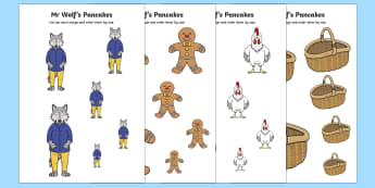 Size Ordering to Support Teaching on Mr Wolf's Pancakes - mr wolfs pancakes, size order