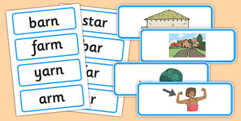 Ar Sound Matching Word Cards - ar sound, matching, word cards, word, cards, match