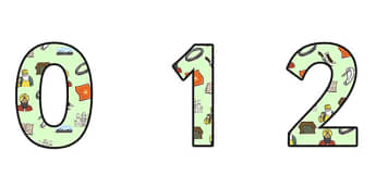 Sikhism Small Display Numbers - sikhism, religion, re, sikhism display, sikhism themed numbers, sikhism cut out numbers, sikhism themed numbers 0-9, sikh