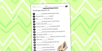 Using Personal Pronouns We or Us Worksheet - personal, pronouns