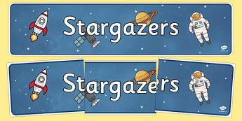 Stargazers Display Banner - stargazers, display banner, display, banner, star, gaze