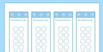 Winter Themed Editable Bookmarks - winter, themed, editable, bookmarks