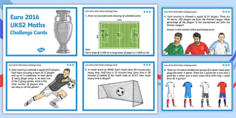 Euro 2016 UKS2 Maths Challenge Cards