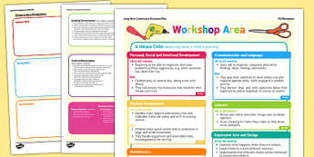 Workshop Area Continuous Provision Plan Posters Reception FS2