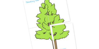 Large Display Thinking Tree - large display thinking tree, tree, thinking tree, green, leaves, large, display, banner, sign, poster