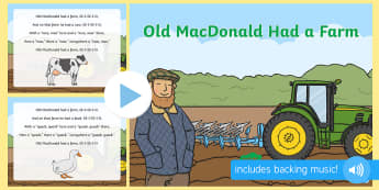 Old MacDonald Had a Farm Lyrics - old macdonald had a farm lyrics