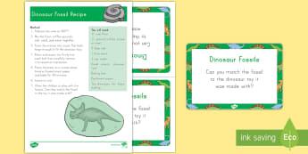 Dinosaur Fossil Recipe and Activity - Dinosaurs, fossils, america, archaeology, paleontology, explore, sensory, USA