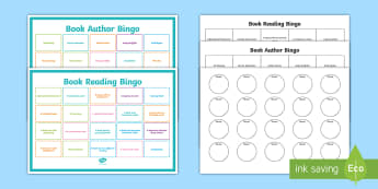 Book Reading Bingo Game - English, reading, authors ,Australia, authors, reading challenges, reading areas, promoting reading