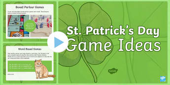 KS2 St Patrick's Day Party Games PowerPoint - KS1& 2 St Patrick's Day UK March 17th 2017, St Patrick, Saint Patrick, St Patrick's Day, Saint Pat
