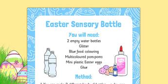 Easter Sensory Bottle - Easter, colour, sounds, sensory bottle, sensory, bottle