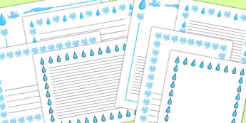 Water Page Borders Pack - water, page borders, pack, borders