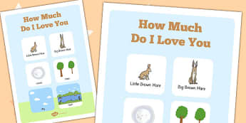 How Much Do I Love You Vocabulary Poster - How, Much, Love, Words