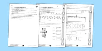 Year 3 Maths Assessment: Fractions Term 3 - year 3, maths, assessment