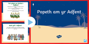 Pŵerbwynt Popeth am yr Adfent - Adfent, advemt, cristnogion, eglwys, Noswyl Nadolig, church, Christian, Christmas eve, Christmas eve