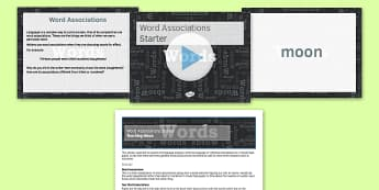 Word Associations Starter Activity - word, associations, starter, activities