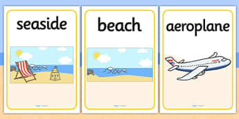 Summer Display Posters - Summer, display poster, A4, display, holiday, holidays,  seasons, beach, sun, flowers, ice cream, sea, seaside