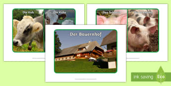 Farm Animals Display Posters - Animals, Farm animals, German, MFL, Languages