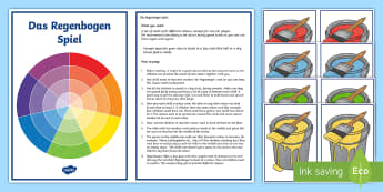 Rainbow Colours Game - Game Cards, Colours, German, MFL Games, Vocabulary Games, Whole Class Game, Interactive Game, MFL, L