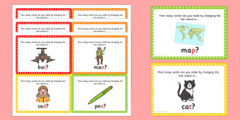 Final Phoneme Manipulation Challenge Cards - activities, game