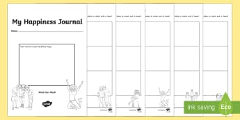 My Happiness Journal Senior Activity Booklet - Twinkl Teacher Requests, SPHE, happiness journal, well being, mental health, happy, mind your mind,
