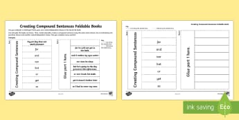 What Is a Compound Sentence?: Creating Compound Sentences Foldable Book Activity - what is a compound sentence, compound sentence, multi-clause sentence, sentences, sentence types, co