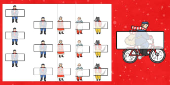 Editable Self-Registration to Support Teaching on The Jolly Christmas Postman - the jolly christmas postman, registration, jolly postman registration, christmas registration
