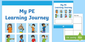 Year 1 My PE Learning Journey Booklet - pe, learning journey, assessment, record, pe booklet,