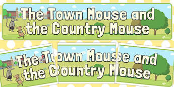 The Town Mouse and the Country Mouse Display Banner - town mouse and country mouse, town mouse and country mouse banner, banner, display banner, display