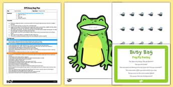 Frog Fly Posting EYFS Busy Bag Plan And Resource Pack - efys, early years, foundation, minibeasts, insects, planning, preparation,